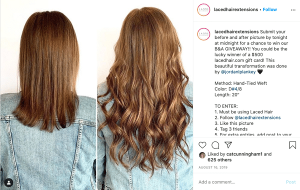 Instagram Makeover Contest From Laced Hair Extensions