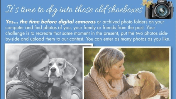 Photo Of Woman With Her Dog Then And Now Contest