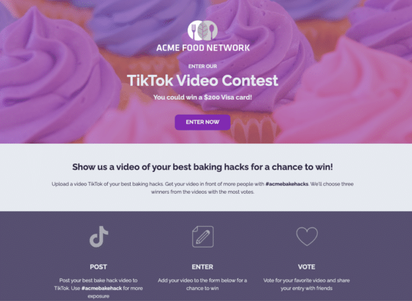 ACME-Food-Network-Tiktok-Video-Contest