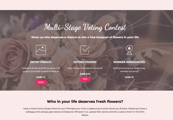 Multi-Stage-Voting-Contest