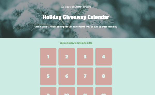 The-9-Best-Performing-ShortStack-Landing-Page-Templates-Holiday-Giveaway-Calendar